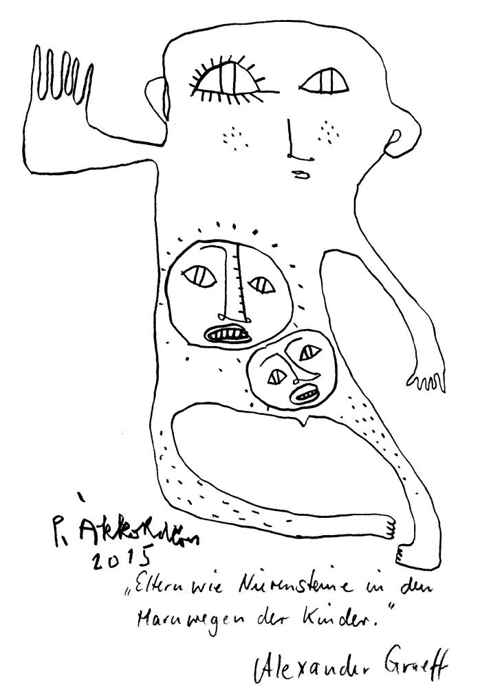 Ein Satz von Alexander Graeff, Zeichnung Petrus Akkordeon