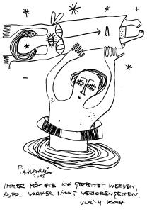 Ein Satz von Ulrich Koch, gezeichnet von Petrus Akkordeon