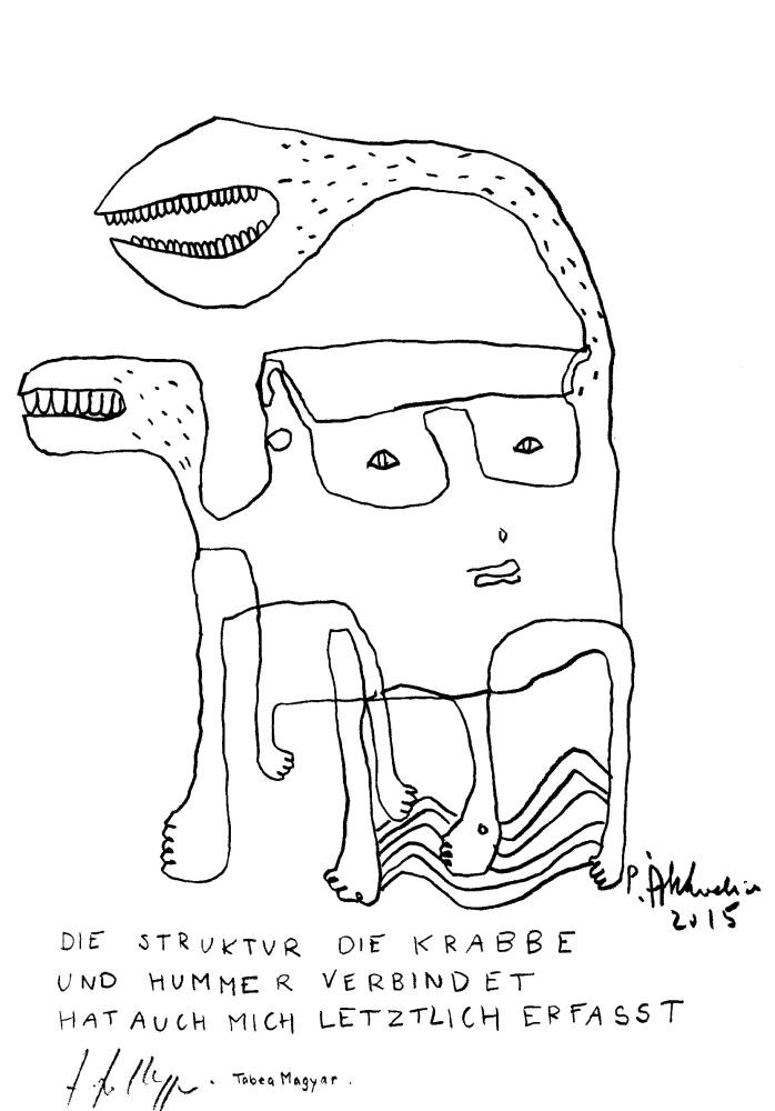 Satz Tabea Magyar, Zeichnung Petrus Akkordeon