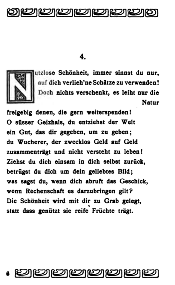 SHAKESPEARES SONETTE. ÜBERSETZT VON MAX JOSEF WOLFF. BERLIN: B. BEHR, 1903