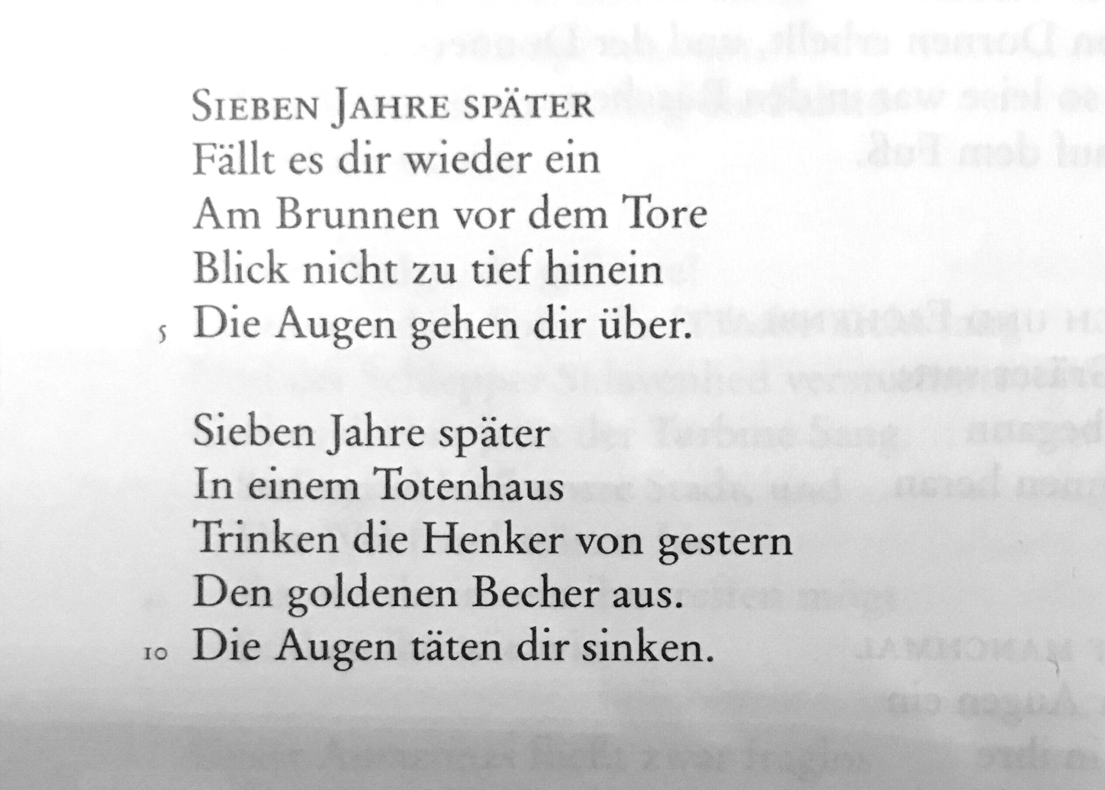 Brecht gedicht moldau